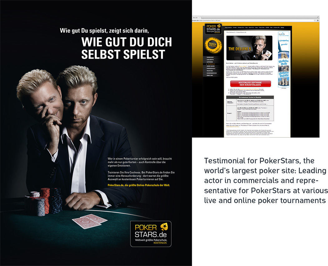 Boris Becker Testimonial Pokerstars
